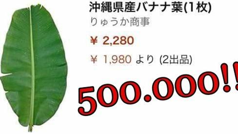 Amazon bán lá chuối gần 500 nghìn 1 lá, mua 5 lá giảm giá còn 1 triệu 2