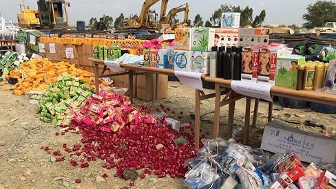 Thu giữ hàng tấn mỹ phẩm Campuchia nhưng dán mác Nhật, Pháp