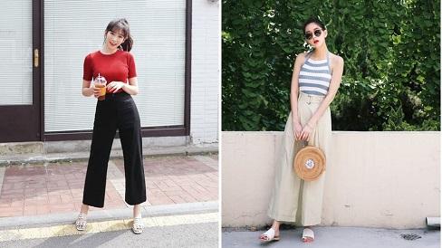 Săn đón kiểu quần mới cho mùa hè,  đến văn phòng hay đi du lịch đều hợp mốt cả