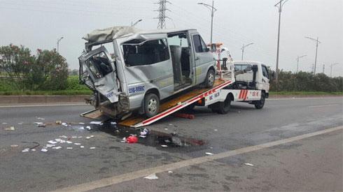 Tai nạn nghiêm trọng trên Cao tốc Hà Nội - Bắc Giang: 2 người tử vong, 6 người khác bị thương