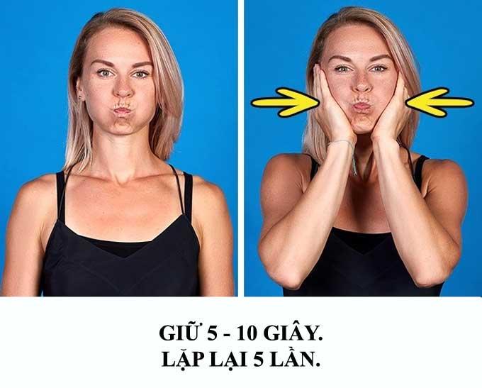 9 bài tập giúp khuôn mặt thon gọn không cần đến dao kéo-7