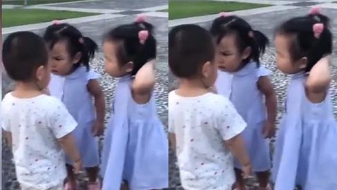 Hai chị em hợp sức khi bị... bắt nạt