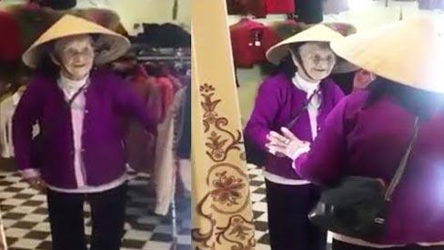 Cười ra nước mắt nghe cụ bà nói chuyện với mình trong gương