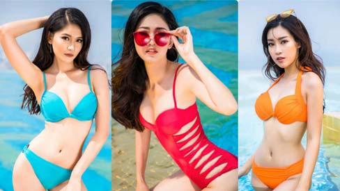 Đỗ Mỹ Linh, Thùy Dung, Thanh Tú so đọ 3 vòng với bikini, ai bốc lửa hơn?
