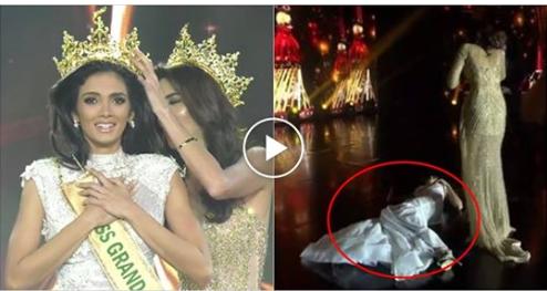 Tân Hoa hậu ngất tại chỗ khi đăng quang
