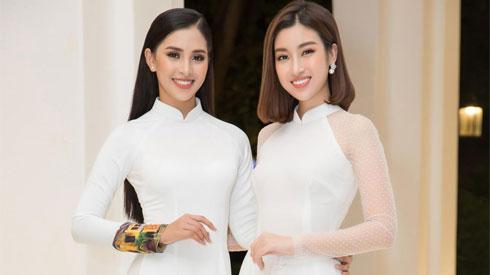 Khi họ diện áo dài trắng: Đầu lòng hai ả tố nga, Mỹ Linh là chị, em là Tiểu Vy!