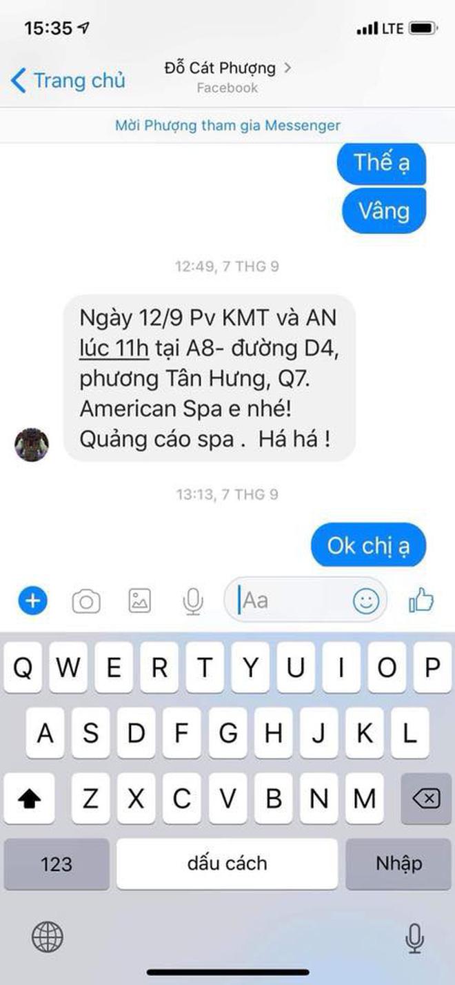 HOT: An Nguy công khai tin nhắn tố Cát Phượng đứng sau dàn dựng việc PR chuyện tình cảm với Kiều Minh Tuấn-3