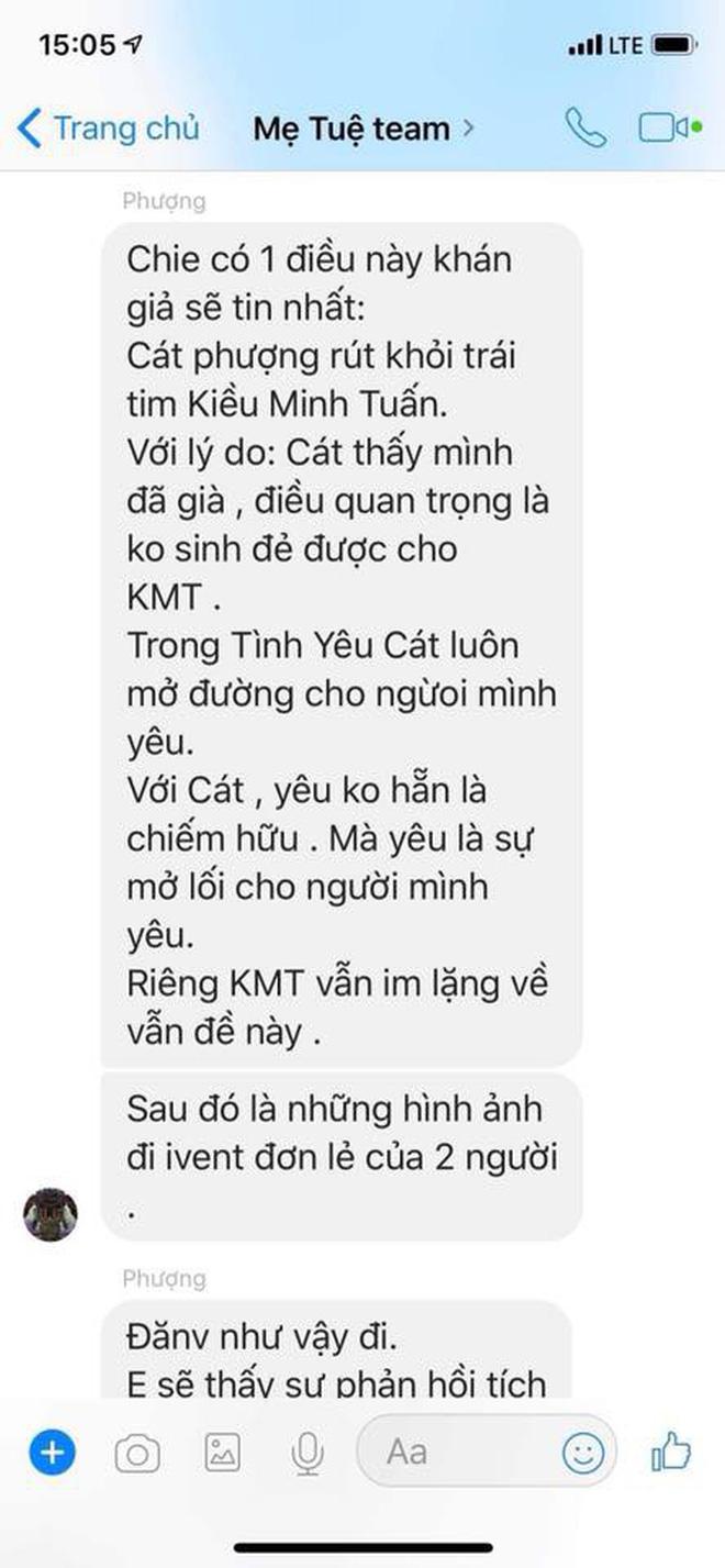 HOT: An Nguy công khai tin nhắn tố Cát Phượng đứng sau dàn dựng việc PR chuyện tình cảm với Kiều Minh Tuấn-1
