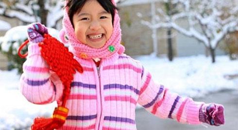 Quy tắc giữ ấm giúp trẻ  không bao giờ bị ốm trong những ngày mùa đông