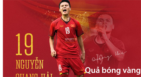 Quang Hải giành quả bóng vàng Việt Nam 2018 ở tuổi 21