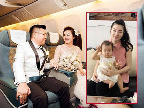 Con gái đại gia được đón dâu bằng máy bay sau 3 năm ở nhà chăm 3 con