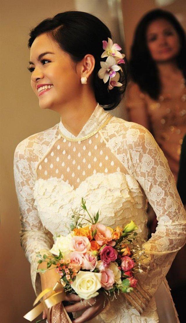 Không phải xanh hay đỏ, trắng mới là gam màu được nhiều mỹ nhân lựa chọn trong ngày cưới-10