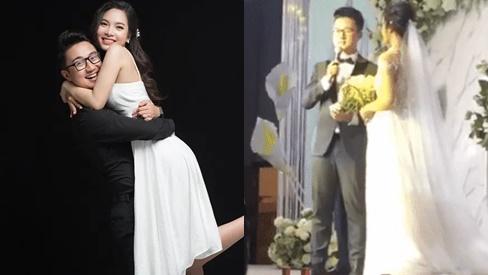 MC Dương Sơn Lâm nghẹn ngào nhắn bà xã trong ngày cưới: 'Sau này chúng ta đừng hỏi nhau kiếm tiền nhiều làm gì em nhé'