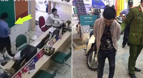 """Tên cướp cầm điện thoại chạy vụt khỏi cửa hàng, phản ứng """"lạnh lùng"""" của bảo vệ gây chú ý"""