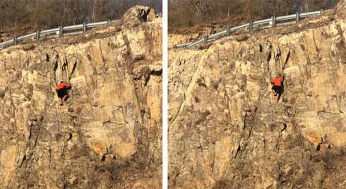 Cảnh 9X tuột tay khi leo núi tại Vũng Tàu