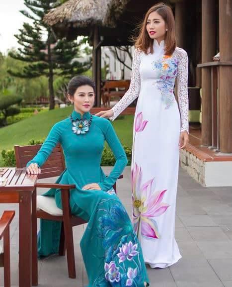 Ngắm trọn vẻ đẹp dịu dàng người con gái Việt trong thiết kế áo dài của Nữ hoàng Hoa hồng Bùi Thanh Hương-9