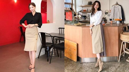 Mặc đẹp đến văn phòng với các kiểu chân váy