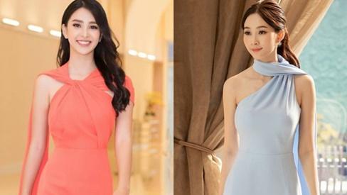 """Diện mẫu váy giống Hoa hậu Đặng Thu Thảo, Tiểu Vy bất ngờ được khen đẹp hơn """"thiên thần tỷ tỷ"""""""
