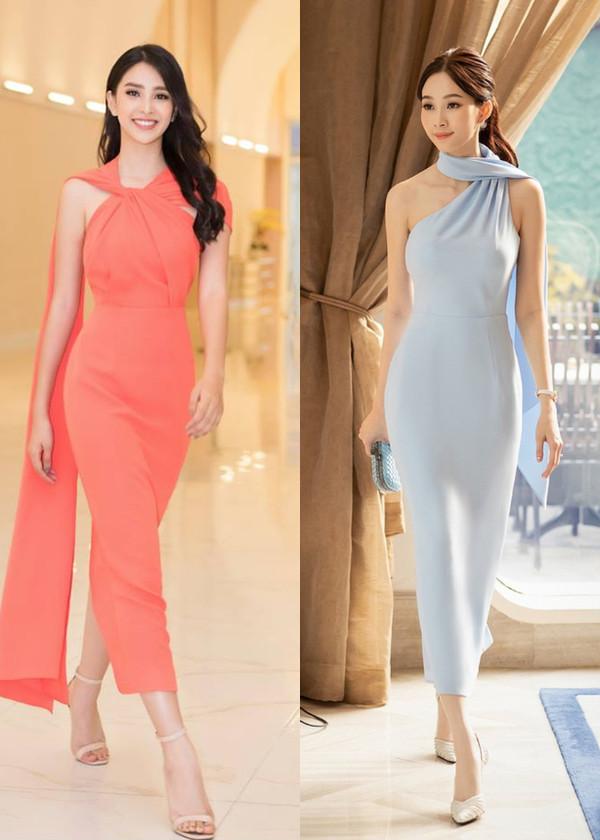 Diện mẫu váy giống Hoa hậu Đặng Thu Thảo, Tiểu Vy bất ngờ được khen đẹp hơn thiên thần tỷ tỷ-5