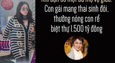 Khi bạn có một bà mẹ vợ giàu: Con gái mang thai sinh đôi, thưởng nóng con rể biệt thự 1.500 tỷ đồng