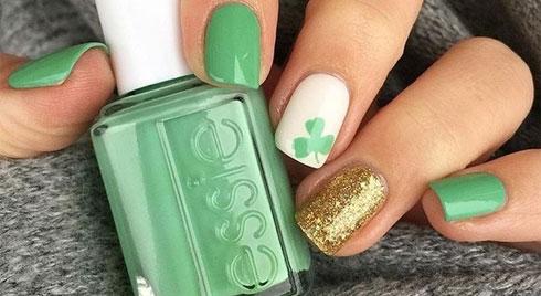 10 mẫu nail xanh lá cây vừa mát mắt vừa trắng nõn nà ngón tay khi mùa hè tới
