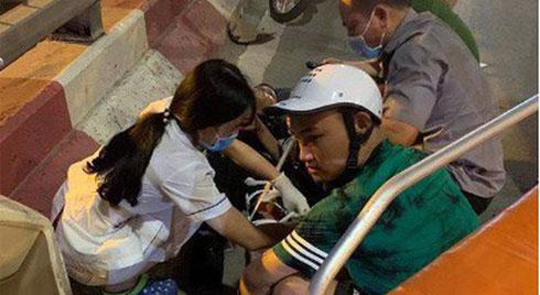 Nữ tài xế lái ô tô con tông liên hoàn 3 xe máy trên đường Nguyễn Chí Thanh