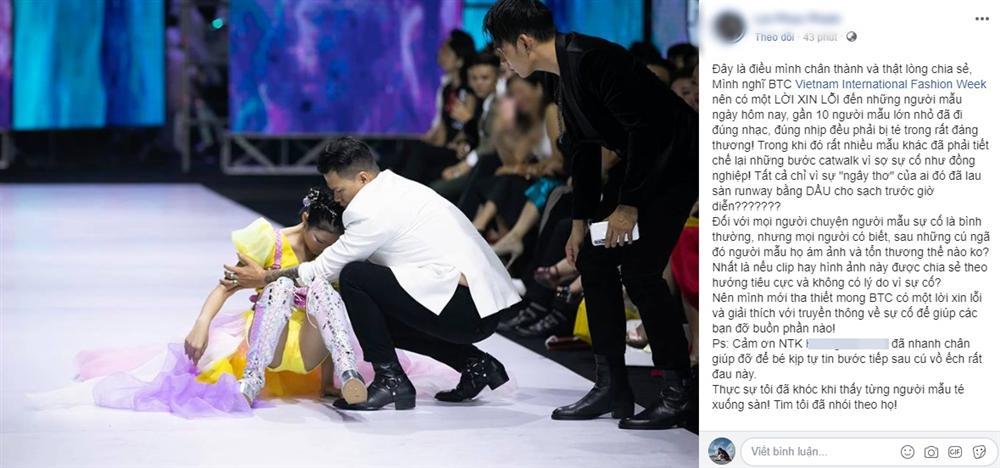 Sự thật đáng phẫn nộ sau cú nhào lộn thảm họa trên sàn catwalk của Minh Hằng-3