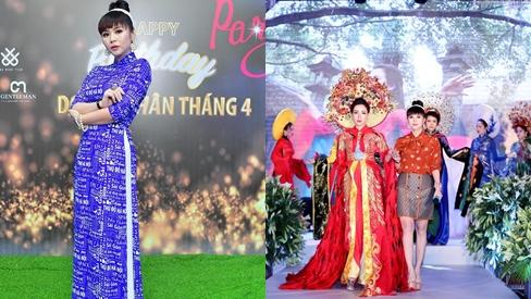 Chiêm ngưỡng BST áo dài mừng đại lễ dân tộc của Nữ hoàng hoa hồng - Bùi Thanh Hương