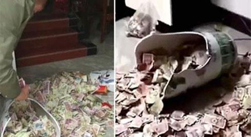 Con gái làm lộ 'quỹ đen' của bố vì đánh vỡ chiếc bình quý