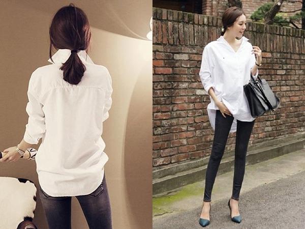 6 cách phối đồ cực sành điệu và thời trang chỉ với một chiếc áo sơ mi trắng-5