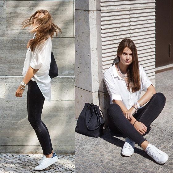 6 cách phối đồ cực sành điệu và thời trang chỉ với một chiếc áo sơ mi trắng-6
