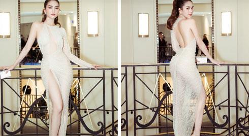 Diện đầm của NTK trong nước, Ngọc Trinh áp đảo cả thiên thần Victoria's Secret tại LHP Cannes