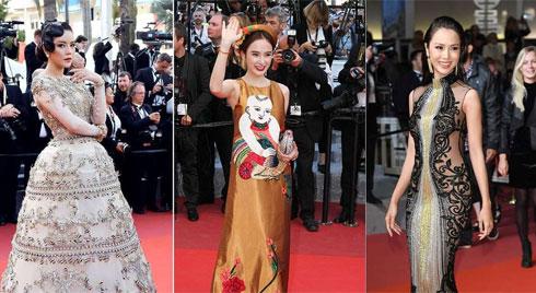 Trước Ngọc Trinh, các người đẹp Việt này diện các bộ váy đều mang hơi hướng truyền thống và kín đáo tại Cannes