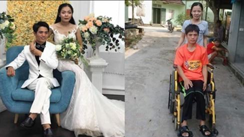 Chuyện tình cổ tích của người chồng liệt 2 chân và vợ mù: Em sẽ làm đôi chân cho anh đến hết đời