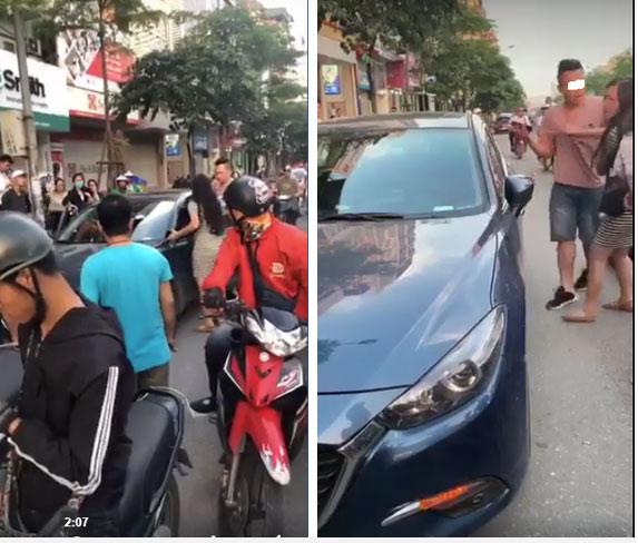 Hà Nội: Bắt quả tang chồng dẫn bồ đi nhà nghỉ, vợ mang bầu xông vào giằng co ngay giữa phố-4