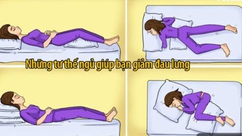 Những tư thế ngủ giúp bạn giảm đau lưng nhanh chóng