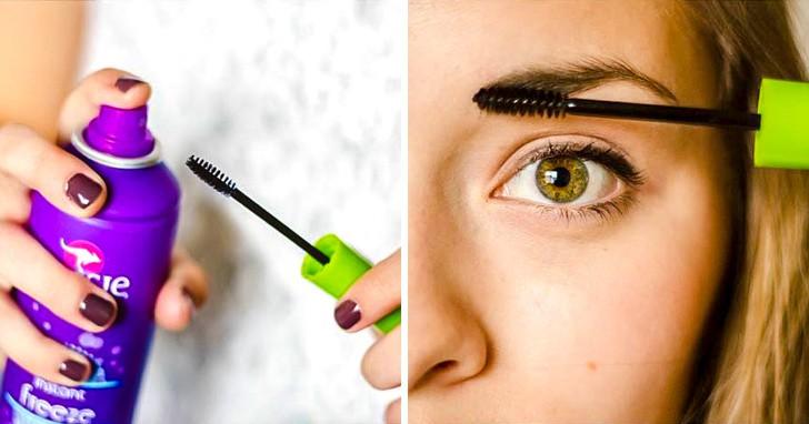 15 bí quyết giúp bạn tận dụng chai xịt tóc-1