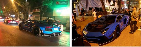 Dàn siêu xe hơn 300 tỷ rầm rộ tụ họp trên đường phố Hà Nội, Cường Đô La và vợ cũng xuất hiện với chiếc Audi R8V10-3