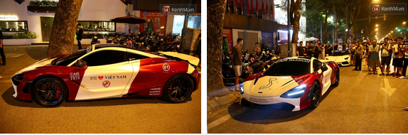 Dàn siêu xe hơn 300 tỷ rầm rộ tụ họp trên đường phố Hà Nội, Cường Đô La và vợ cũng xuất hiện với chiếc Audi R8V10-5