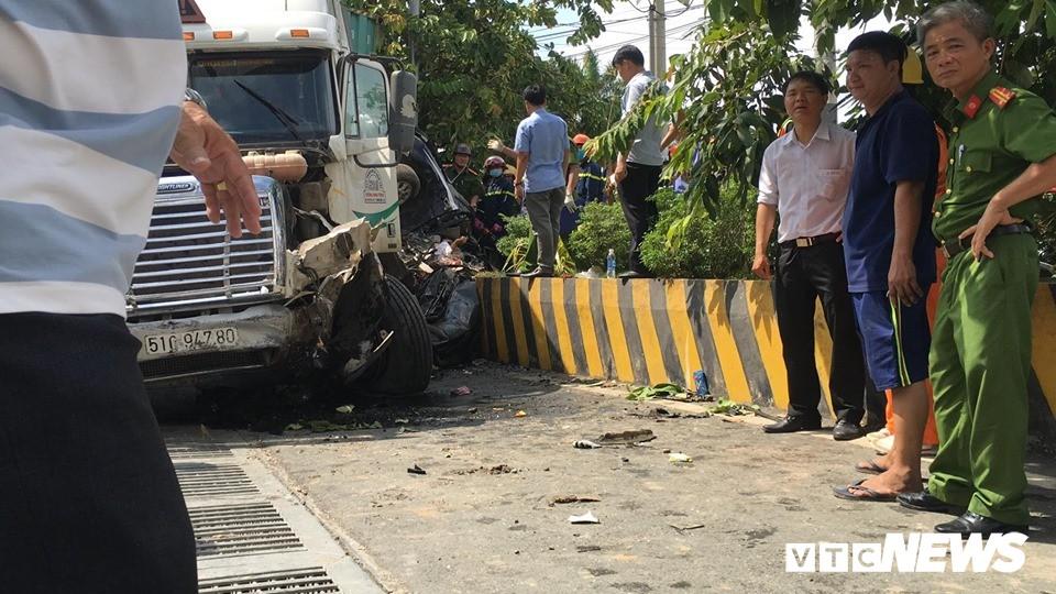 Tài xế container gây tai nạn khiến 5 người thiệt mạng ở Tây Ninh khai do ngủ gật-1