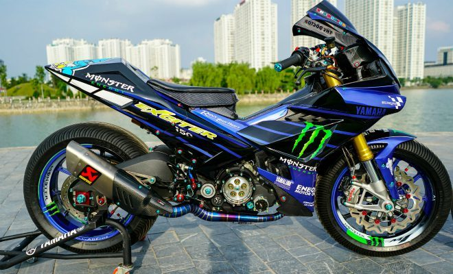 """Exciter độ đầu R1 cá trê, gắp quỷ đỏ"""" Ducati giá 300 triệu đồng-2"""