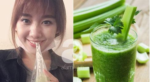 Uống nước ép cây cần tây Hari Won giảm 6kg trong 2 tháng, nhiều sao khác cũng đang dưỡng da giữ dáng bằng cốc nước thần thánh này