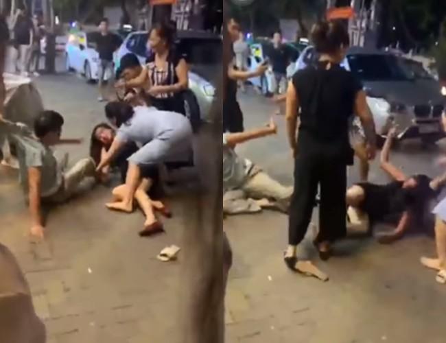 Bị vợ con lao vào đánh ghen, người đàn ông liên tục che chắn cho nhân tình rồi cầu xin: Thôi bố về, bố xin lỗi tất cả mọi người-2