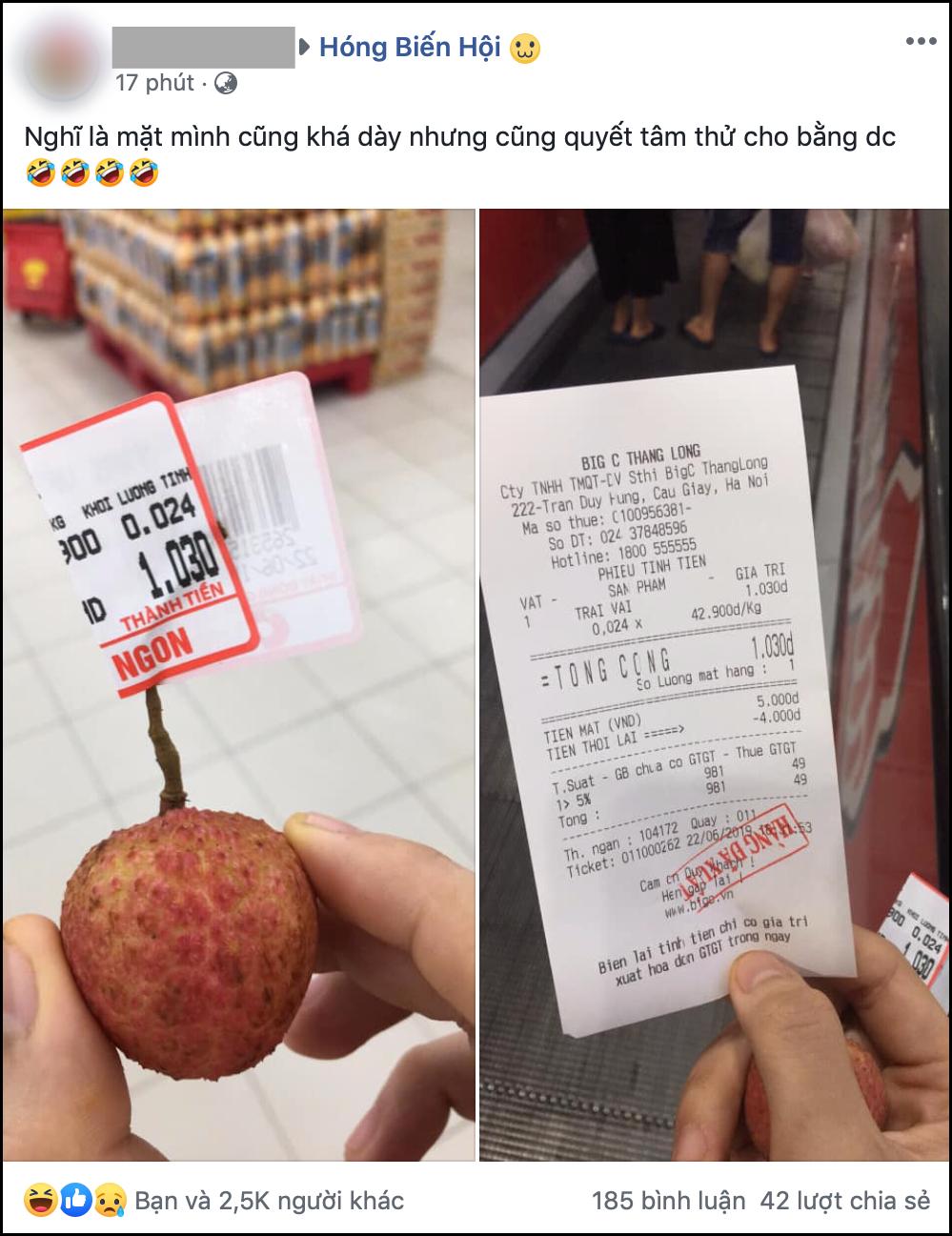 Nam thanh niên lầy lội vào siêu thị chỉ mua 1 quả vải, thanh toán 1.030 đồng làm dân mạng cười ra nước mắt-1