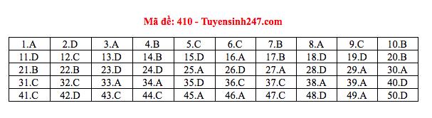Đáp án thi môn Tiếng Anh THPT quốc gia 2019 (tất cả mã đề)-8