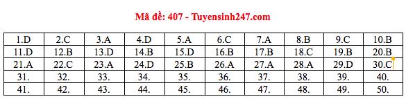 Đáp án thi môn Tiếng Anh THPT quốc gia 2019 (tất cả mã đề)-5