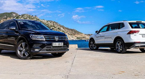 So sánh Mercedes-Benz GLC200 2019 và Volkswagen Tiguan Allspace 2019