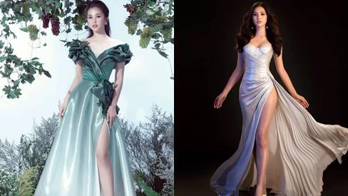 Hoa hậu Tiểu Vy chuộng váy xẻ cao trên thảm đỏ