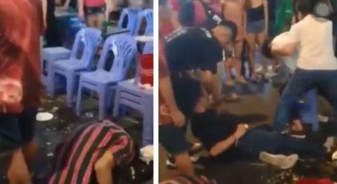 Clip: 3 thanh niên lên cơn co giật, giãy giụa trên phố Bùi Viện khiến nhiều người sợ hãi