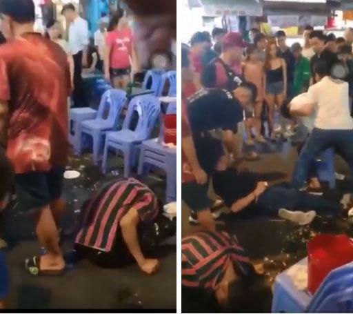 Clip: 3 thanh niên lên cơn co giật, giãy giụa trên phố Bùi Viện khiến nhiều người sợ hãi-3